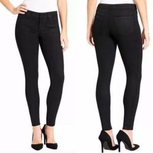 NWT Jessica Simpson Black Coated Super Skinny Jean